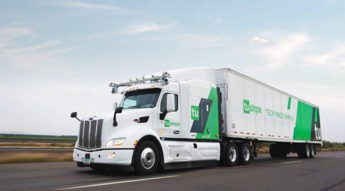 ups con camion a guida autonoma